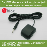 Waterproof GPS Module Receiver with Antenna UBLOX 6010 Chipset TTL output VK-163 G-MOUSE 3.5MM earphone interface for Car DVR