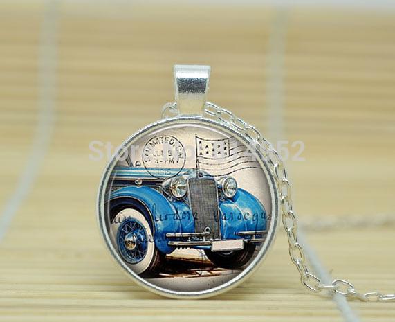 10pcs Vintage Car Pendant - Vintage Automobile Car Necklace - 1900's - Car Pendant Necklace glass Cabochon Necklace A1897(China (Mainland))