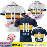 GAGO Jersey 14 15 Home Soccer Jersey Maradona Navy Away White 2015 Football Jersey Shirt Camisa Futebol GIGLIOTTI PALERMO ROMAN