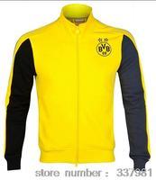 Dortmund Jacket Top Thailand Quality Embroidery 2014 2015 Borussia Dortmund Soccer Training Sweater Winter Autumn clothes
