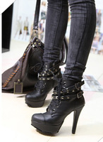 2015 fashion high-heeled boots boots shoes Free Shipping