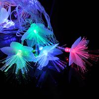 AC220V 20leds 4M 2W RGBY Led Christmas Modeling String Light Four-color Petals Fiber with PVC transparent lines