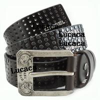 Men belt famous brand genuine leather Rivet Coffe Cow Leather Belt Italy Style Origianl man belt DS143#69