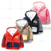 New 2015 Winter baby sweater cashmere sweater sections for kids coat jacket Hooded Sweater baby wear cardigan free shipping