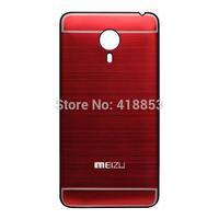 1pcs New Battery Door Case For Meizu Mx 4 Mobile Phone Brushed Metal Aluminum Replacement Back Cover Housing Battery Door