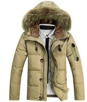 Hot 2014 Winter Casual Canada Mens Fur Collar Down Coat Outwear Man Jacket Ropa Hombre Winter Jacket Men Parka Coats Plus Size
