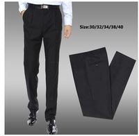 European style men's Fashion Business leisure Slim cut trousers pant full length free shipping