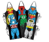 Free Shipping Creative Gift Superman Superwoman/ Spiderman/ Batman funny apron party costume