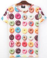 Donuts Colourful Delicious 3D Printed T-Shirt Women Men Tee Shirt Streetwear
