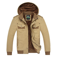 Male Hooded Exquisite Fashion Windproof Outerwear Slim Fit Long-sleeved Classic Design Jacket Water Wash Personality Cotton Coat