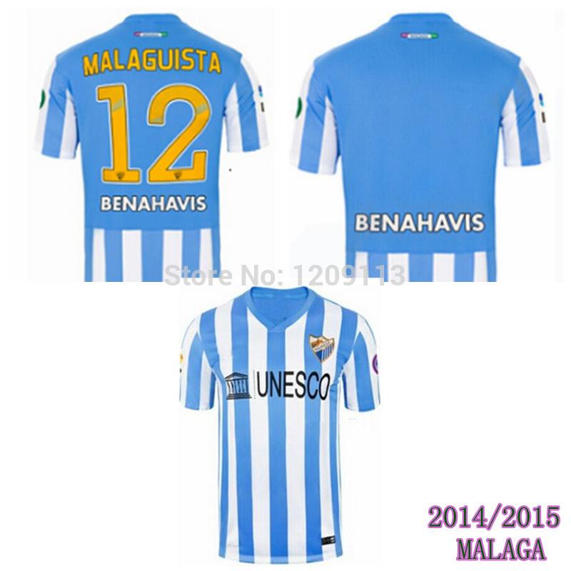 2015 Malaga home jerseys top thai quality 14/15 Francisco Portillo SAMUEL la liga soccer jerseys custom football uniform(China (Mainland))