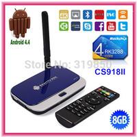 CS918II Rockchip RK3288 Quad Core 4K Android TV BOX Mini PC 2GB DDR3 8G ROM Dual Band 2.4/5G WIFI Bluetooth DLNA OTG Android 4.4