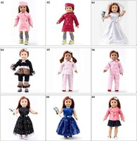 "Toy xmas GIFT Handmade Doll Clothes For 18"" American Girl  Princess Dress Bling Bling Chirstmas present accessories 40 design"