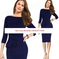 European Brand 2014 Spring & Autumn Fashion New Women Pencil Dress Evening Party Club Dress Plus Size Vestido Free Shipping