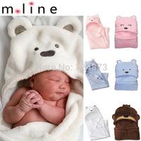 Fleece blanket Bedding Animal shape baby hooded bathrobe / baby bathrobe / baby bath towel / baby blankets / neonatal hold