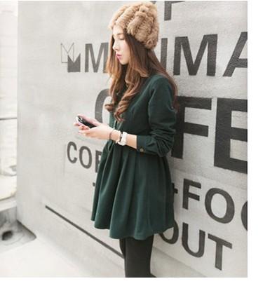 2014 Fall New College Wind Mori Art Fan Xiaoqing new female Japanese long-sleeved shirt corduroy dress women(China (Mainland))