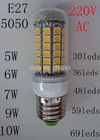 220V led lamp E27 5W 6W 7w 9W 10W led corn lamp bulb lights white/warm white