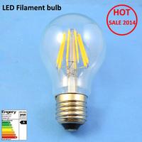2014 Hot Ra60 6W E27 led filament bulb AC220-240V led bulb lamp 10PCS/LOT LED bulb lamp  Free Shipping