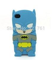 3D Cartoon Blue Batman The Avengers superheros series Soft Silicone Case Skin Cover For Apple iPhone 5C  (Blue Batman)