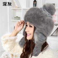 The autumn / winter 2014 Korean fashion imitation rabbit wool hat thick warm Mongolia Lei Feng protective ear cap