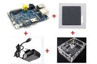 Free shipping Banana Pi + 5V,2A power supply adapter+ heat sink + 1 transparent case