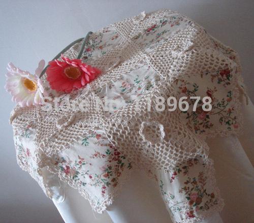 Korean trade vanilla series mosaic crochet tablecloth / table cloth / cover cloth(China (Mainland))