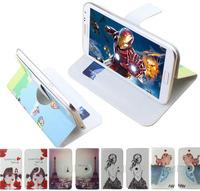 Print drawings 360 rotation pu leather cartoon Universal case for Highscreen Zera F rev.S,gift