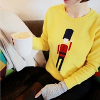 2014 winter and autumn sweater women's Jacquard cartoon o-neck Christmas sweater pullover sweater female thickening