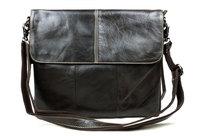 free/drop shipping good quality soft oil genuine leather men's messenger bag fashion vintage school bag laptop cross body bags