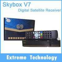 10pcs Original Skybxo V7 DVB-S2 Satellite tv Receiver With VFD S-V7 Support 2xUSB WEB TV USB Wifi 3G Biss Key Youporn CCCAMD