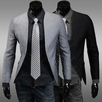 Suits & Blazers 2014 New Cotton Men's Blazers Placket Circular Design Vestiti Terno Masculino Man's Fashion Paleto Masculino