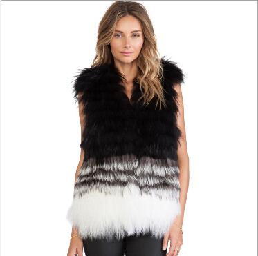 2017 Wholesale Autumn Pink Women Fur Jacket 2015 Plus Size Vest ...