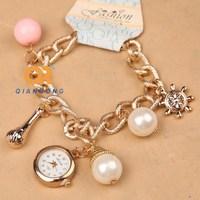 women luxury dress ladies bracelet watches stainless steel waterproof tag watch Textured ornament elegance girl kids watch