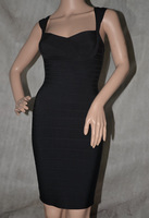 free shipping 2014 high quality newest style black sweatheart necklace open back hl Bandage Dress ladies' party evening dress