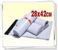 28x42cm 100pcs white plastic mailing bags express bags self adhesive seal