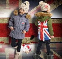Retail Free shipping winter child outerwear children coat wholesale winter children girls thicken coat