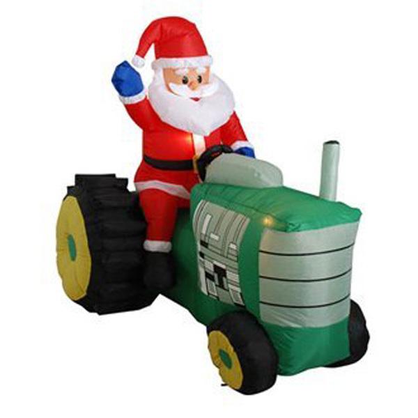 2014 hot wholesales inflatable santa with tractor(China (Mainland))