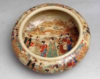 Ancient porcelain ceramic enamel ladies ashtray freeshipping