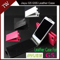 Jiayu G5 G5S Case cover Good Quality Top Open PU Flip case cover for Jiayu G5 G5S cellphone free shipping