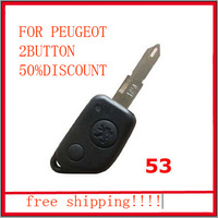 2 Button Replacement Folding Remote Key Shell Case for PEUGEOT 106 205 206 306 307 405 406 Keyless Entry Remote Fob