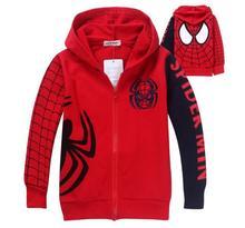 1pc Retail 2014 Autumn Children's Coat boys Spiderman embroidered hoodie jackets, baby&Kids cartoon Clothes, children outerwear(China (Mainland))