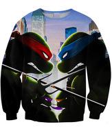 Sweatshirt Tracksuits Original Genuine Popular Homer 3D printing Teenage Mutant Ninja Turtles Long-sleeved Sweater