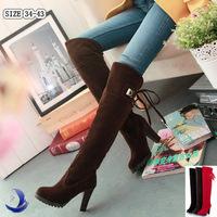 HOT! ! 2014 womens knee boots women fashion long boot winter footwear high heel shoes sexy snow warm T64 EUR size 34-39
