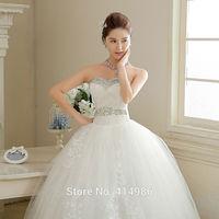 HOT Free shipping new 2014 white princess fashionable lace wedding dress romantic tulle wedding dresses HS107