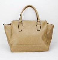 H014(khaki)Leather Handbag, Fashionable Design, Available in Various Sizes and Colors, free shipping