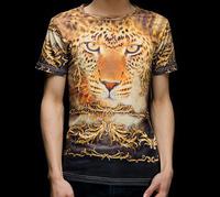 Leopard Gold Pattern Mighty 3D Printed T-Shirt Women Men Tee Shirt Streetwear