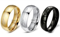 No min order limit+Free shipping! Hot Movie Jewelry 18K gold/silver plated Stainless Steel ring, 3 colors men women jewelery