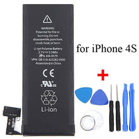 OEM 1430mAh Li-ion Portable Replacement Battery Mobile Phone Accessory with Opening Tool Kit for iPhone 4S