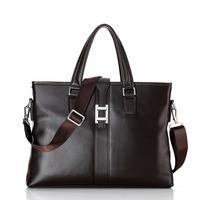 New collection fashion men brand bag leather, men luxury business bags with trendiest design , big size men laptop shoulder bag