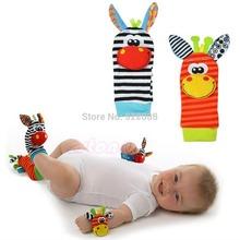 B39 hot-selling newest 1Pcs Animal New Baby Infant Kids Foot Sock Developmental Soft Rattles Toys Free Shipping(China (Mainland))